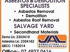 ASBESTOS & DEMOLITION SPECIALISTS