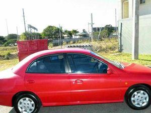 2000 Kia Rio LS Red 4 Speed Automatic Sedan