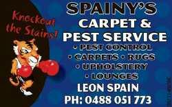 Spainy's Carpet & Pest service * PEST CONTROL * carpets * rugs * upholstery * lounges Leon S...