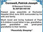 Cornwell, Patrick Joseph