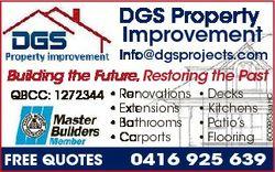 DGS Property Improvement Info@dgsprojects.com QBCC: 1272344  Renovations  Extensions  Bathrooms  Car...