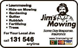 * Lawnmowing * Ride-on Mowing * Gardening * Gutter * Rubbish * Fertilizing * Trees For Your Local Ji...