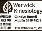 4112216abhc STRESS & DEPRESSION Carolyn Borrell BACK & NECK PAIN Mobile 0419 762 316 BED WETTING LEARNING DIFFICULTY 151a Palmerin St, Warwick
