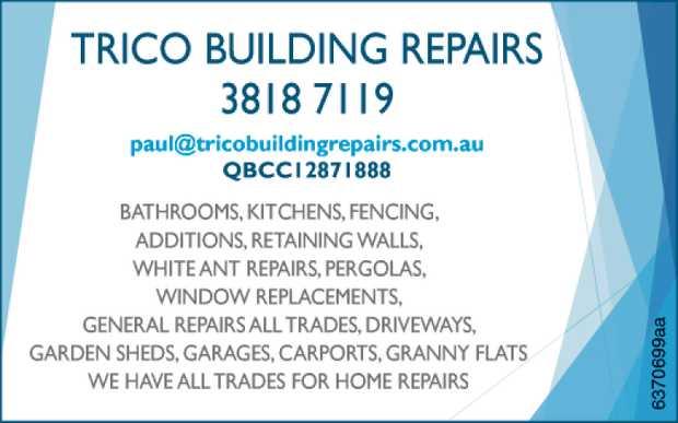 3818 7119   paul@tricobuildingrepairs.com.au   QBCC 12871888   We have all trad...