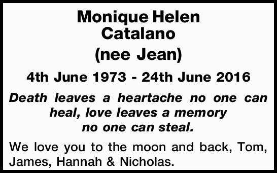 4th June 1973 - 24th June 2016