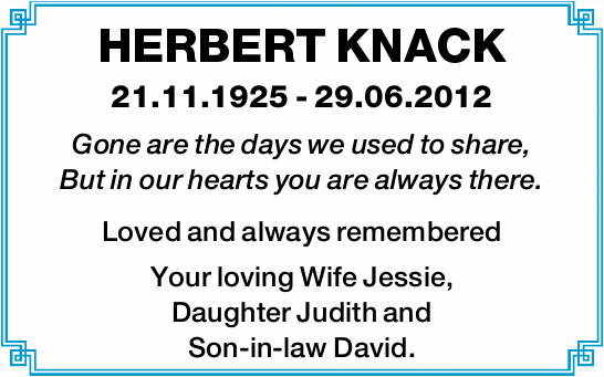 HERBERT KNACK 