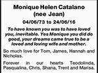 Monique Helen Catalano (nee Jean)