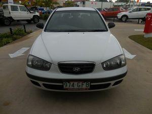 2000 Hyundai Elantra XD GL White 4 Speed Automatic Sedan