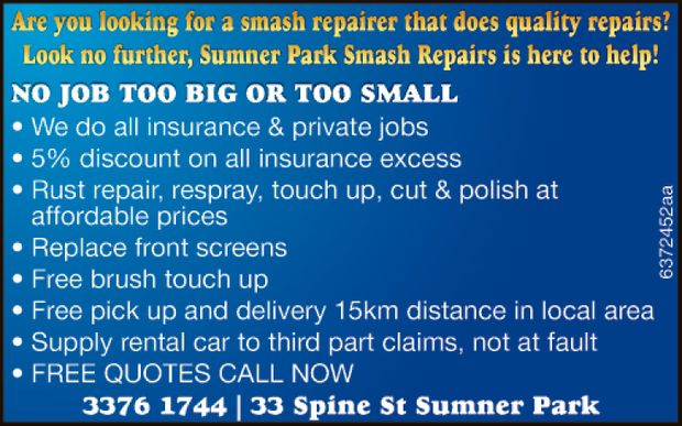 Are you looking for a smash repairer that does quality repairs?