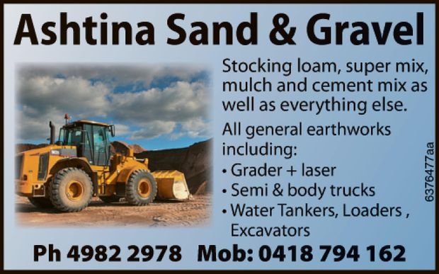 Stocking loam, super mix, mulch and cement mix as well as everything else. All general eart...
