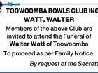 TOOWOOMBA BOWLS CLUB INC.