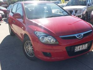 2011 Hyundai i30 FD MY11 SX Red 5 Speed Manual Hatchback