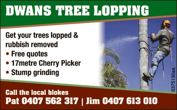 Get your trees lopped & rubbish removed  Free quotes  17 metre Cherry Picker ...