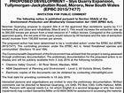 PROPOSED DEVELOPMENT – Slys Quarry Expansion,