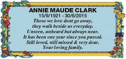 ANNIE MAUDE CLARK 15/9/1921 - 30/6/2015 Those we love dont go away, they walk beside us everyday. Un...