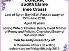 CONLAN, Judith Elaine (nee Cross)