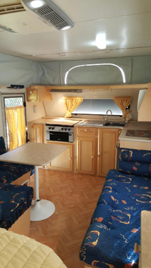 2005 Coromal 511, 16' pop top. Rollout awning, shade sides with annexe floor, Dometic roof...