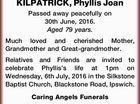 Phyllis Joan KILPATRICK