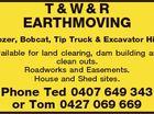 T&W&R EARTHMOVING