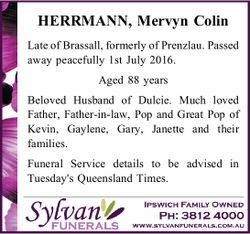 HERRMANN, Mervyn Colin
