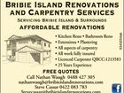 Bribie Island Renovations and Carpentry Services