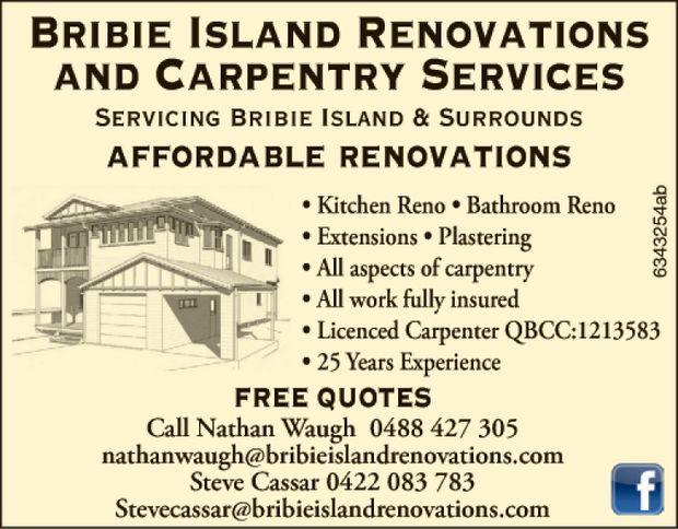Servicing Bribie Island & Surrounds affordable renovations • Kitchen Reno &b...