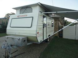 GOLF CALYPSO, 15', ATM 1150, alum. frame, easily towd, 3s beds, 3w frig, gas oven, LED ligh...