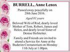 BURRELL, Anne Lenox