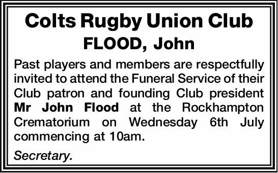 FLOOD, John