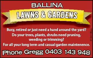 Busy, retired or just need a hand around the yard?