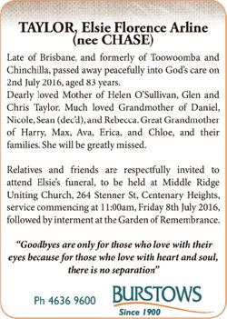 Late of Brisbane, and formerly of Toowoomba and Chinchilla, passed away peacefully into God&rsquo...