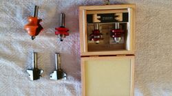 2 sets & 2 singles Router Bits