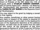NOTICE OF INTENTION TO APPLY FOR GRANT OF PROBATE