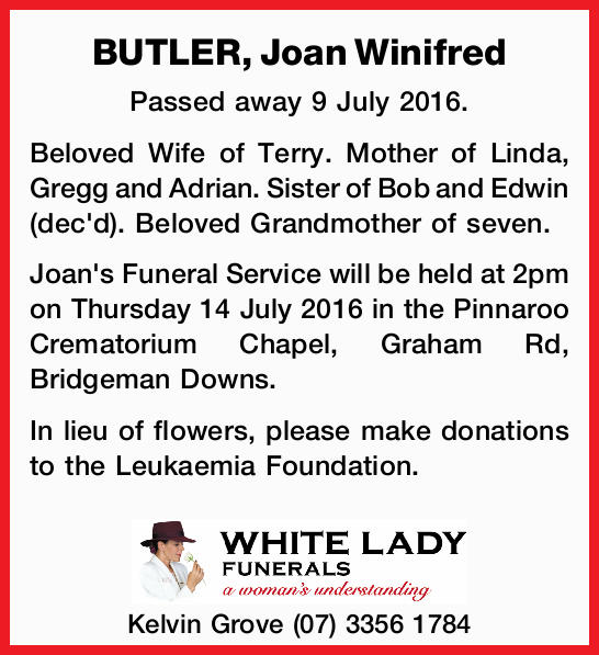 Passed away 9 July 2016.