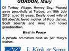 GORDON, Mary