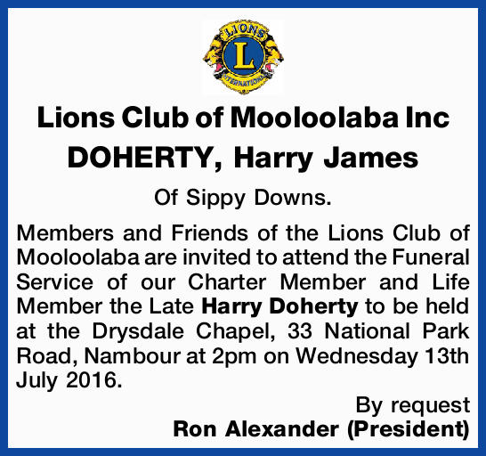 DOHERTY, Harry James