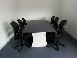 Board Room Table 2100x1000 Boat Shape