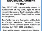 "McGeough, Anthony ""Tony"""