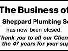 K & M Sheppard Plumbing Service