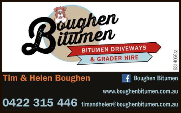 Tim & Helen Boughen 0422 315 446   www.boughenbitumen.com.au   timandhelen@boughenbit...