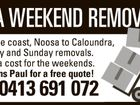AAA WEEKEND REMOVALS
