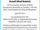 MATHERS, Russell Alfred Roderick