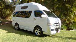 TOYOTA Hi-Ace Campervan, 2009, 5sp man, LED TV, m/wave, fridge, solar, as new cond, 140,000kms, r...