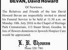 BEVAN, David Howard