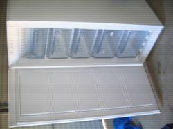Hisense176L Upright freezer 4draws 1shelf  V.E.C.