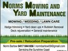 Norms Mowing and Yard Maintenance