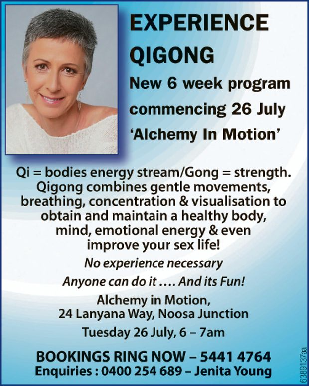 New 6 week program commencing 26 July 'Alchemy In Motion'