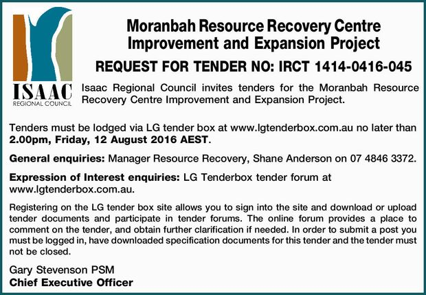 REQUEST FOR TENDER NO: IRCT 1414-0416-045