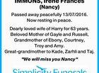 IMMONS, Irene Frances (Nancy)