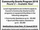 Community Grants Program 2016 Round 2